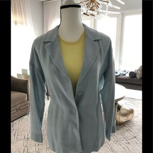 Prada baby blue women's suit jacket size 44